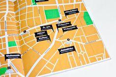Orange Contemporary Map Design