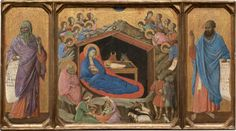 The Nativity with the Prophets Isaiah and Ezekiel, 1308-1311 Duccio di Buoninsegna Sienese
