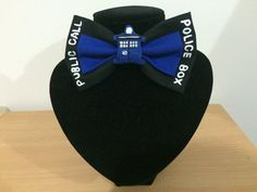 Its bigger on the inside!!  Add a bit of everyday cosplay with this beautifully handmade bow inspired by doctor who. Approximately 10cm wide. Made