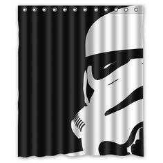 "Star War Stormtroopers Pattern Custom Waterproof Polyester Fabric Bathroom Shower Curtain with 12 Hooks 60""(w) x 72""(h)- Bathroom Decor Qearl"