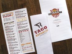 Coolest menu!  Makes me want to go there and eat : )