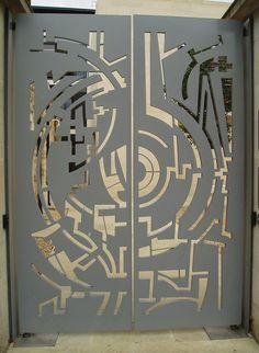 Contemporary Gate Design, Oxford | Flickr - Photo Sharing! dekoratif metal lazer kesim bahçe kapısı