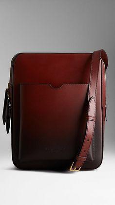 Small Dégradé Leather Satchel, with a pocket designed for iPad Mini.