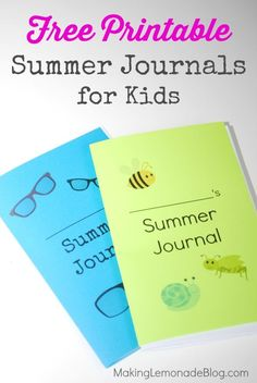 Get Organized for Summer: FREE Summer Organizing Printables Pack! These free journals are perfect for all ages to draw, write, and add memories of summer vacation. #summer via www.makinglemonadeblog.com
