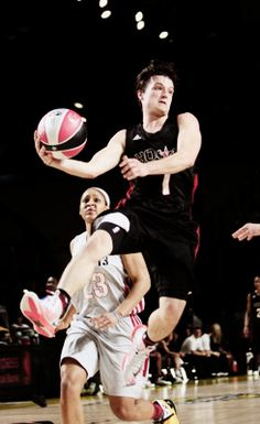 Josh playing some basketball at the All-Star Celebrity Game event. I was watching this game last night...our boy has got some mad skills!