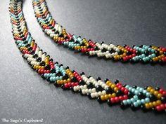The Sage's Cupboard Handmade Egyptian Jewelry and Tribal Beadwork Beaded Jewelry Designs, Necklace Designs, Bead Earrings, Beaded Necklace, Necklaces, Seed Bead Patterns, Bead Loom Bracelets, Egyptian Jewelry, Beaded Collar