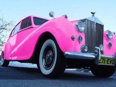 pink rolls royce.