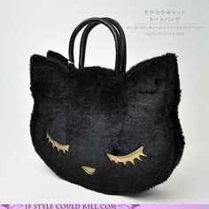 Sleepy kitty purse