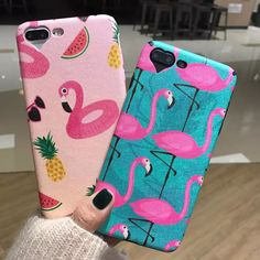 Fashion Flamingo Heart Camera Window Phone Case For iPhone 6 6S 6Plus 7 7 Plus Cute Cartoon Animal Soft Ostrich Silk Back Cover #Affiliate