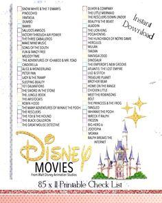 Disney film Checklist - Walt Disney film Watch liste - téléchargement - films d'animation - movies to watch - Movie To Watch List, Disney Movies To Watch, Film Watch, Movie List, Walt Disney Movies List, Netflix Movies To Watch, Best Disney Movies, Walt Disney Animated Movies, Every Disney Movie