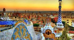 Barcelona's breath-taking skyline #travel #winterescape http://www.veltra.com/en/europe/spain/barcelona/
