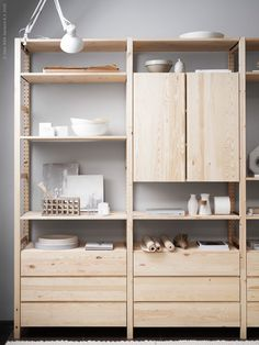 """Képtalálat a következőre: """"ikea ivar hack"""" Ivar Ikea Hack, Ikea Hacks, Ikea Ivar Shelves, Alcove Shelving, Shelving Units, Ivar Regal, Ikea Office, Ikea Storage, Storage Ideas"""