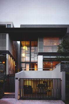 57 Trendy Ideas for house design exterior modern indian Architecture Design, Singapore Architecture, Residential Architecture, Contemporary Architecture, Modern Contemporary House, Pavilion Architecture, Chinese Architecture, Architecture Office, Futuristic Architecture