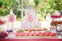 Dress-Inspired {Disney} Princess Birthday Party (My princess would love to have this theme for her birthday)