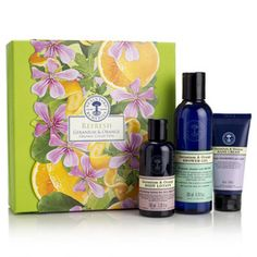 Refresh Geranium & Orange Organic Collection. Our refreshing organic collection will put a spring in anyone's step. Uplifting organic geranium is infused with pure, orange essential oils for natural get-up-and-go.  The perfect feel-great gift for him or for her.  Sharing the feeling in the DR Congo  Our beautifully fragrant fair trade geranium essential oil is helping more then 150 women to rebuild their lives after the war in Ituri, Democratic Republic of Congo.