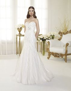"Bridal dress P7429  by "" Perle di Delsa collection"""