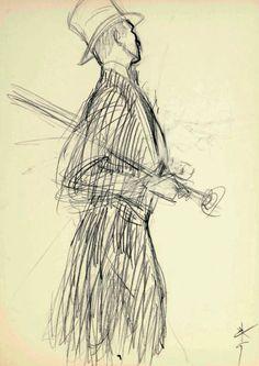 Pencil Sketch, 1957.