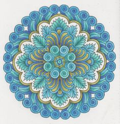 Magical Mandalas 027 done with pencils. Mandala Dots, Mandala Design, Creative Haven Coloring Books, Tangle Art, Circle Art, Fractal Art, Colorful Pictures, Doodle Art, Coloring Pages
