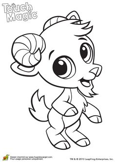 Learning Friends Goat Baby Animal Coloring Printable From LeapFrog The