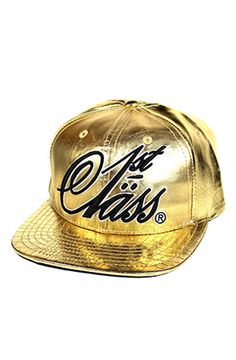 8eb45501bd4 1st Class Classic 24K Gold Snapback Leather Embroidery