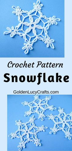 This crochet Snowflake is beautiful, delicate and lacy.Using this Snowflake free crochet pattern, you can make attractive Christmas ornaments. Christmas Tree Hat, Crochet Christmas Trees, Crochet Ornaments, Christmas Crochet Patterns, Holiday Crochet, Snowflake Ornaments, Christmas Ideas, Christmas Crafts, Thread Crochet