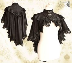 Capelet Victorian romantic goth cloak steampunk by SomniaRomantica