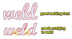 Fonts that weld for Silhouette Cameo-