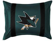 San Jose Sharks NHL Sidelines Pillow Sham/Cover/Case