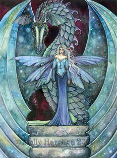 """Dragons:  """"Crystal #Dragon,"""" by Molly Harrison."""