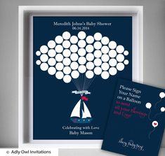 Boy Ship Guest Book Printable Alternative by adlyowlinvitations