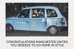 Man City sponsor congratulates United on title win - sort of.