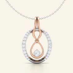 diva oval diamond pendant