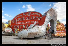 Silver Slipper - before she was restored and put back up on the Strip near the Neon Museum (an awesome place, and a must see if you're in Vegas)
