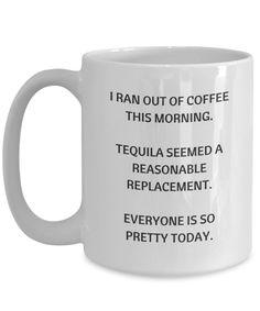 Tequila funny coffee mug.
