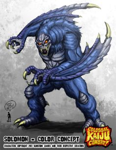 Image - Colossal kaiju combat solomon by . All Godzilla Monsters, Cool Monsters, Fantasy Creatures, Mythical Creatures, Cthulhu, Creepypasta Characters, Monster Design, Creature Concept, Monster Hunter