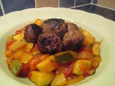 Frugal Queen: Veggies stew with meaty dumplings - 72p per portion