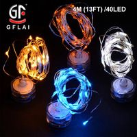LED String Lights Copper Wire 4M 7FT 40 Green Light Battery Powered Indoor Table…