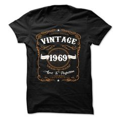 I Love VINTAGE 1969 Aged To Perfection T shirts