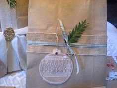 trader joes bag cut up for a gift tag