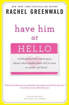 Books For Your 20s: Books To Read For Twentysomething Women....Have Him at Hello