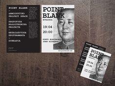 flyer2_point_blank by Nancy Skerletidou, via Behance