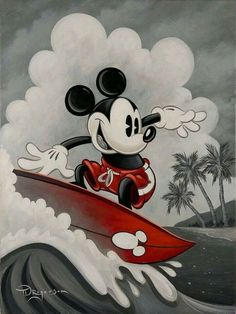 Mickey would go! Mickahuna (Disney surf art) by Tim RogersonYou can find Mickey mouse art and more on our website.Mickey would go! Mickahuna (Disney surf art) by Tim Rogerson Mickey Mouse Kunst, Mickey Mouse Drawings, Mickey Mouse Tattoos, Mickey Minnie Mouse, Disney Drawings, Vintage Mickey Mouse, Mickey Mouse Wallpaper Iphone, Disney Wallpaper, Iphone Wallpaper
