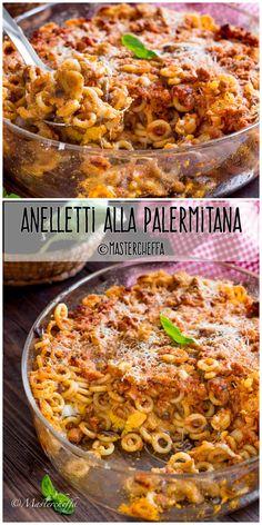 Lunch Recipes, Pasta Recipes, Great Recipes, Cooking Recipes, Favorite Recipes, Mumbai Street Food, Sicilian Recipes, Snacks Für Party, Pizza