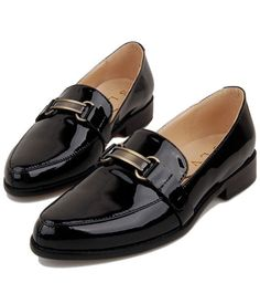 #chicnova                 #Clothing                 #Patent #Black #Leather #Point #Flat #Shoes #with #Metal #Hardware            Patent Black Leather Point Toe Flat Shoes with Metal Hardware                                           http://www.seapai.com/product.aspx?PID=4844834