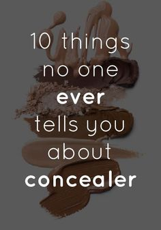 Concealer secrets that no one ever tells you.