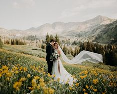 Wildflowers and Bridals - Jordy B Photo Utah wedding photographer authentic bridals romantic wedding photography beautiful wedding dress and veil adventurous mountain bridals - April 27 2019 at Wedding Advice, Wedding Poses, Wedding Ceremony, Wedding Planning, Wedding Dresses, Wedding Photoshoot, Wedding Arbors, Bride Poses, Wedding Outfits