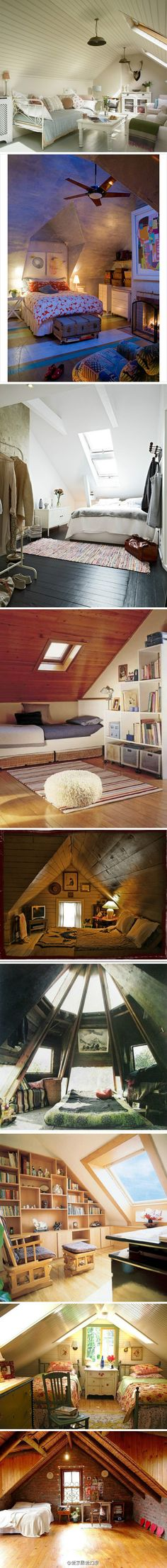 great ideas for attic spaces, etc if we ever build