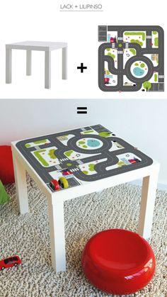 Lilipinso art for kids Paper Crafting umfasst e - Kinderkuche Diy Pappe Paper Crafts For Kids, Diy For Kids, Diy Karton, Table Ikea, Kids Room Organization, Kids Wall Decor, Woodworking For Kids, Kids Play Area, Kids Corner
