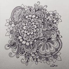 flower cluster doodle