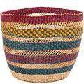African Basket - Ghana Bolga - Storage Basket - 12 Inches Across - #49253